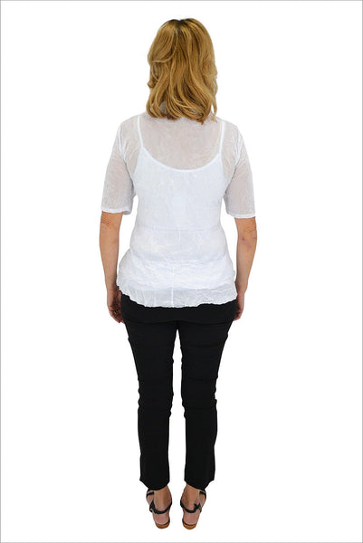 White Button Up Mesh Cardigan - at I Love Tunics @ www.ilovetunics.com = Number One! Tunics Destination