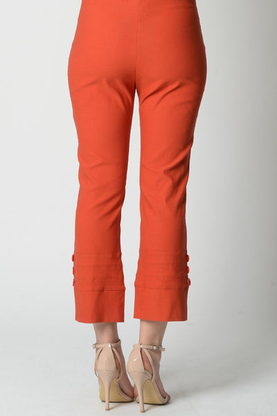 Orange 3 Button 7/8 Pant - I Love Tunics @ www.ilovetunics.com