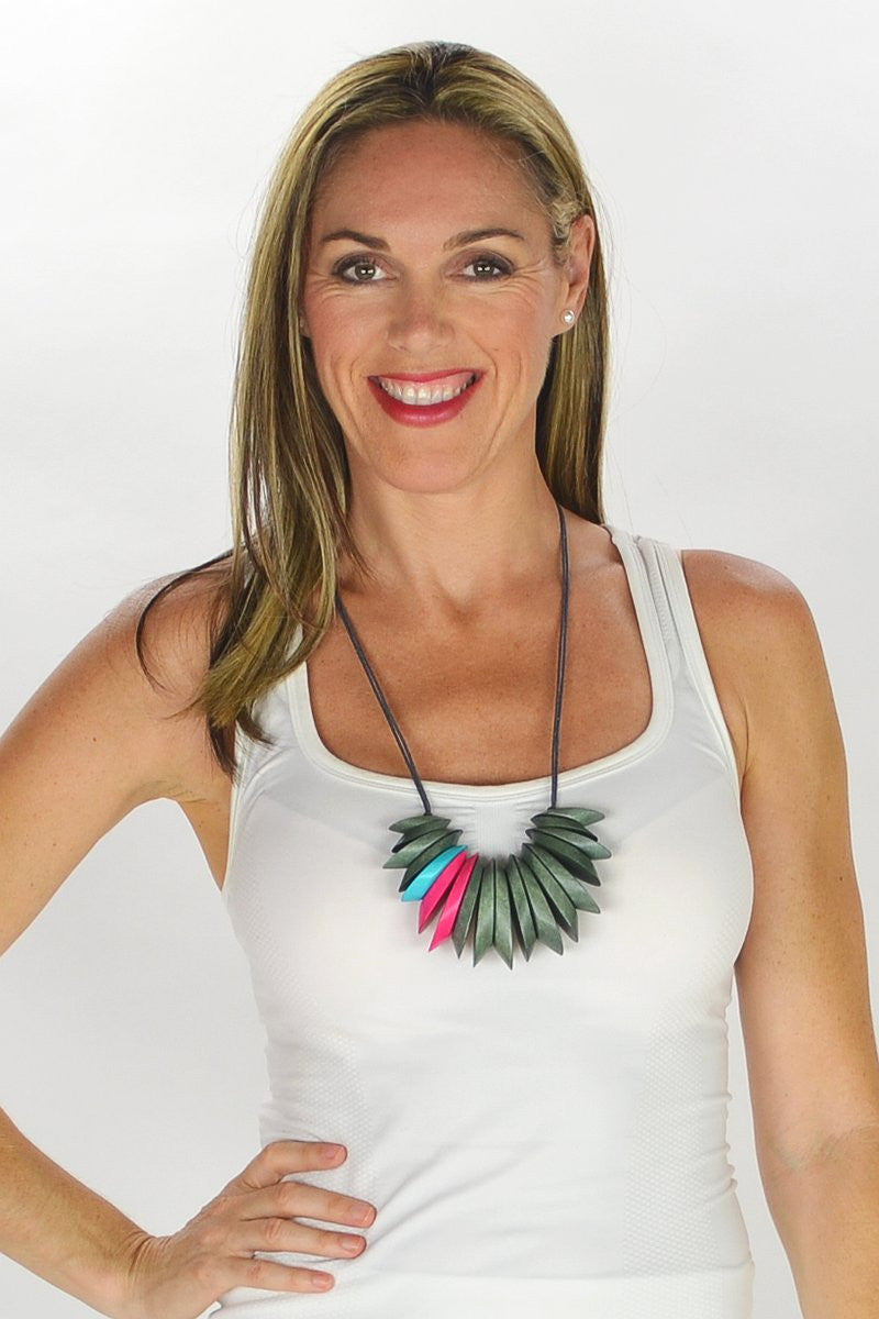 Penny Green Necklace - at I Love Tunics @ www.ilovetunics.com = Number One! Tunics Destination