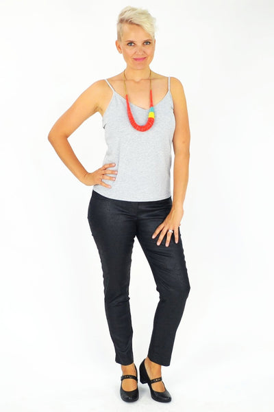 Clarity Leather Look Pants - I Love Tunics @ www.ilovetunics.com