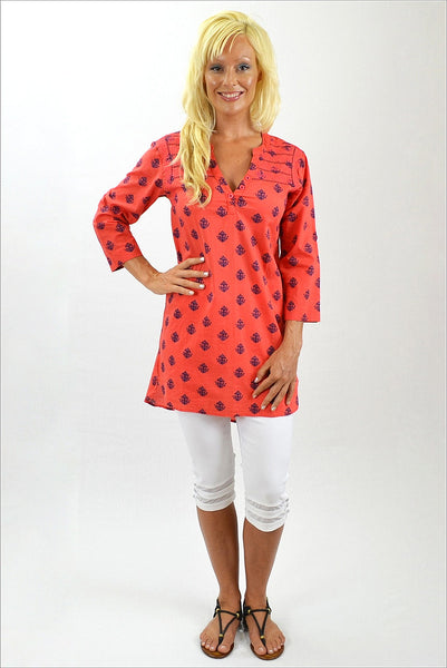 Coral Anchor Tunic