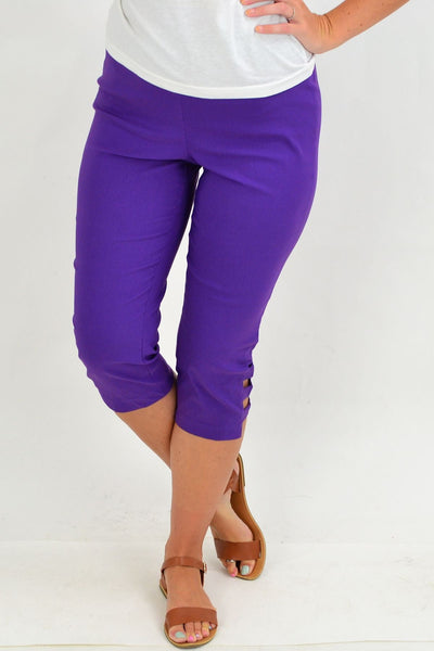 Purple 3/4 Pull on Pants