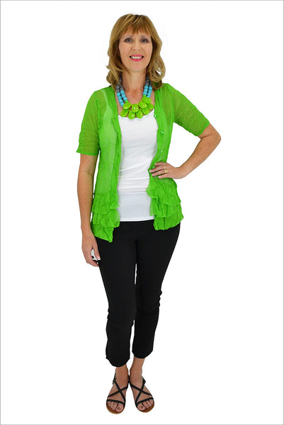 Apple Button Up Mesh Cardigan - at I Love Tunics @ www.ilovetunics.com = Number One! Tunics Destination