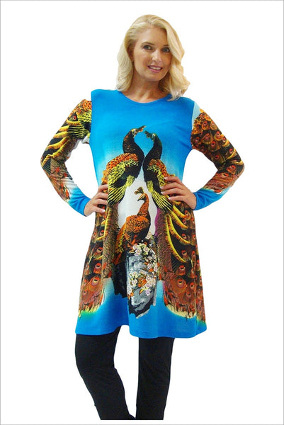 Blue Peacock Passion Tunic