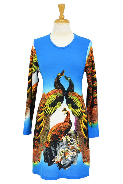 Blue Peacock Passion Tunic | I Love Tunics | Tunic Tops | Tunic Dresses | Women's Tops | Plus Size Australia | Mature Fashion