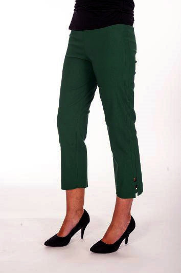 Olive Clarity Cut Out Cuff Pants