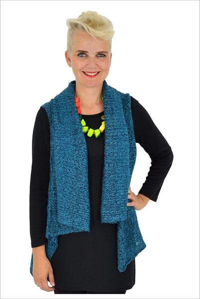 Blue Knit Vest - at I Love Tunics @ www.ilovetunics.com = Number One! Tunics Destination