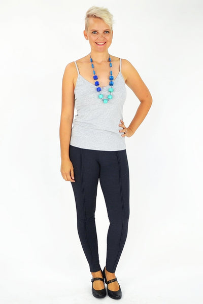 Charcoal Grey Line Leggings