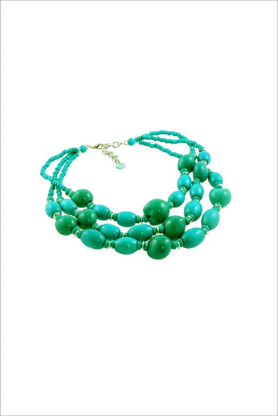 Aqua Green Beads Necklace - at I Love Tunics @ www.ilovetunics.com = Number One! Tunics Destination