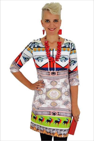 Abstract Deer Tunic | I Love Tunics | Tunic Tops | Tunic | Tunic Dresses  | womens clothing online