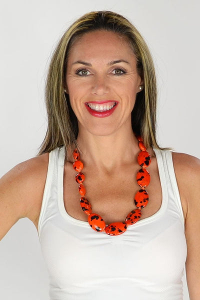 Orange Black Beads Necklace | I Love Tunics | Tunic Tops | Tunic | Tunic Dresses  | womens clothing online