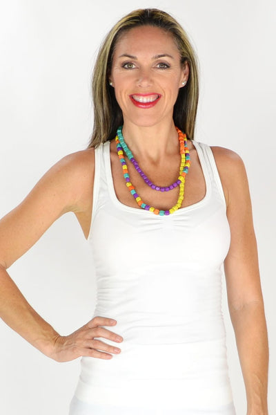 Multicolour Beads Long Necklace | I Love Tunics | Tunic Tops | Tunic | Tunic Dresses  | womens clothing online