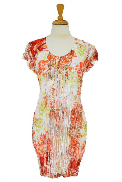Floral Orange Green Tunic