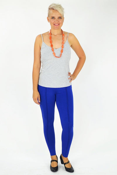 Cobalt Blue Line Leggings