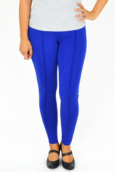 Cobalt Blue Line Leggings - at I Love Tunics @ www.ilovetunics.com = Number One! Tunics Destination