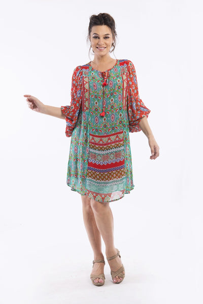 Kashi Print Tunic Dress