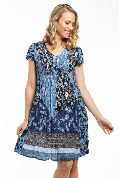 Orientique Crete Cotton Dress | I Love Tunics | Tunic Tops | Tunic | Tunic Dresses  | womens clothing online