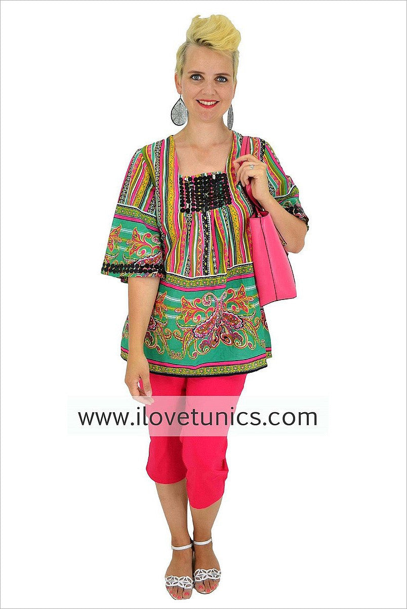 Colour & Cotton Tunic | I Love Tunics | Tunic Tops | Tunic Dresses | Women's Tops | Plus Size Australia | Mature Fashion