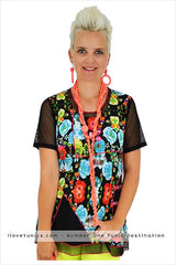 Flower Mesh Tunic - at I Love Tunics @ www.ilovetunics.com = Number One! Tunics Destination