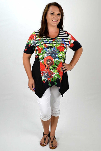 Colourful Bouquet Flower Tunic