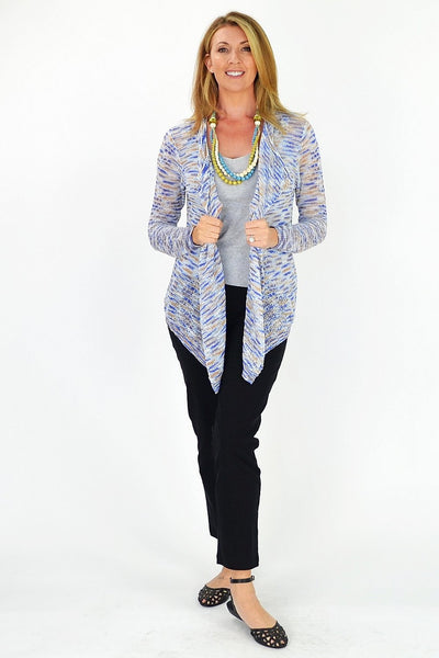 Blue & Orange Willow Cardigan