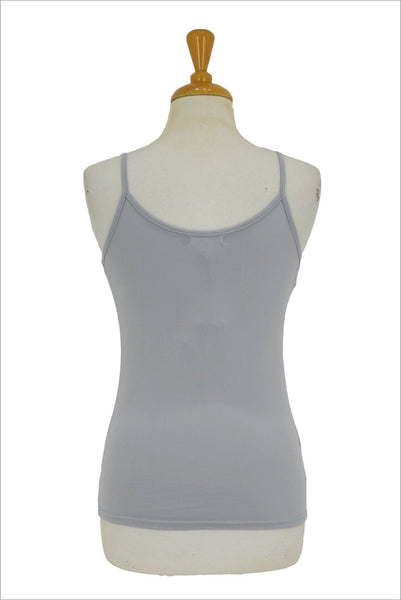 Grey Basic Singlet Top - I Love Tunics @ www.ilovetunics.com
