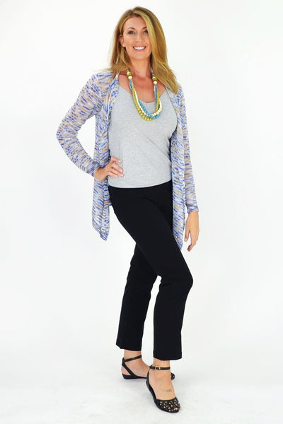 Blue & Orange Willow Cardigan - at I Love Tunics @ www.ilovetunics.com = Number One! Tunics Destination