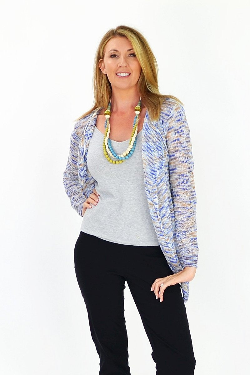 Blue & Orange Willow Cardigan | I Love Tunics | Tunic Tops | Tunic | Tunic Dresses  | womens clothing online