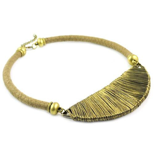Golden wire choker necklace - at I Love Tunics @ www.ilovetunics.com = Number One! Tunics Destination