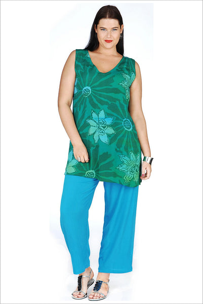 Green Lagoon Long Tunic