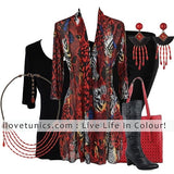 Red Animal Print Cardigan - I Love Tunics @ www.ilovetunics.com