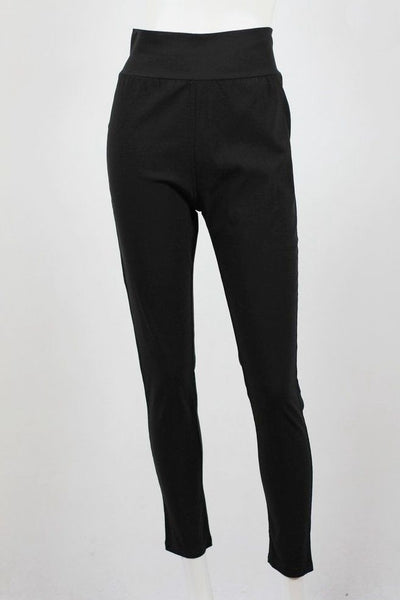 Black wide band 7/8 Pants