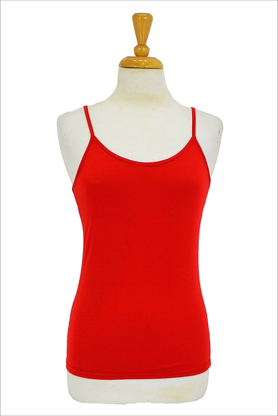 Red Basic Singlet Top