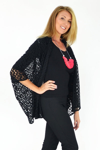 Bessie's Crochet Cardigan | I Love Tunics | Tunic Tops | Tunic Dresses | Women's Tops | Plus Size Australia | Mature Fashion