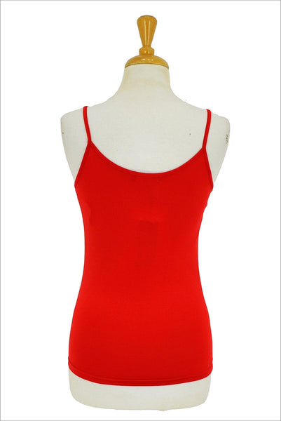 Red Basic Singlet Top - at I Love Tunics @ www.ilovetunics.com = Number One! Tunics Destination
