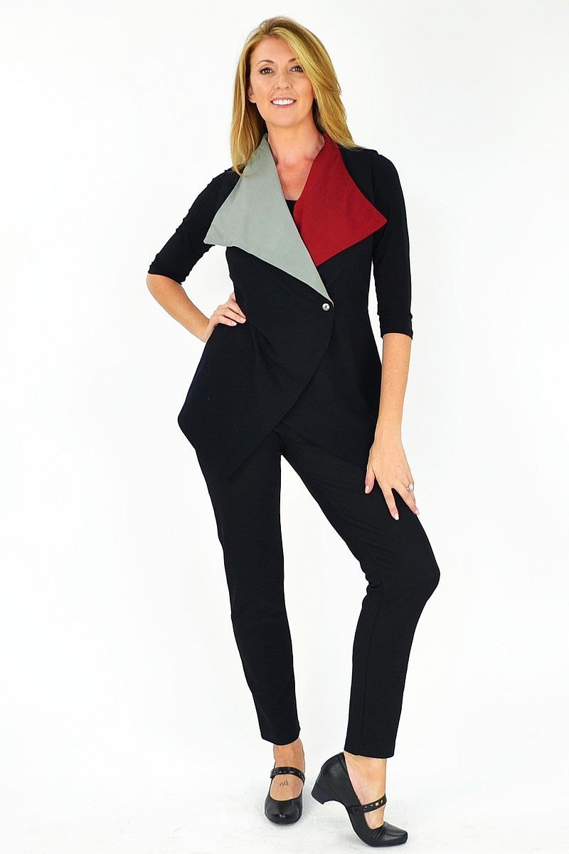 Jham Red Ruby Vest - at I Love Tunics @ www.ilovetunics.com = Number One! Tunics Destination