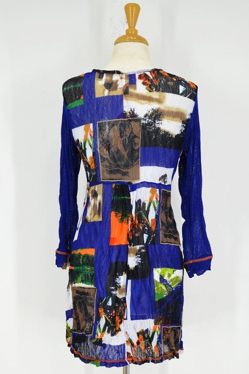 Blue Squares Tunic - at I Love Tunics @ www.ilovetunics.com = Number One! Tunics Destination