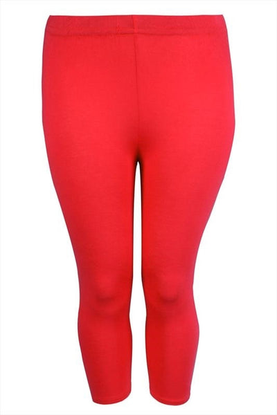 Red 3/4 Plus Size Leggings - I Love Tunics @ www.ilovetunics.com