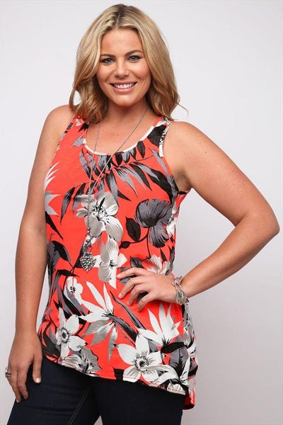 Neon Coral Tropical Tunic - at I Love Tunics @ www.ilovetunics.com = Number One! Tunics Destination