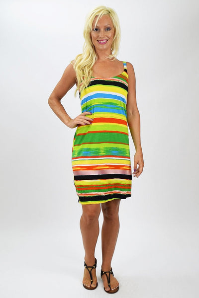 Lora Stripe Tunic Dress
