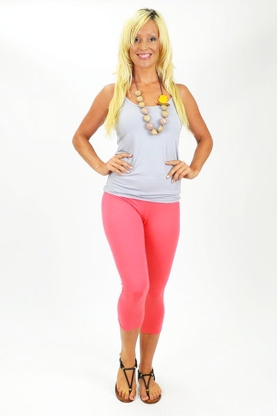 Pink 3/4 leggings | I Love Tunics | Tunic Tops | Tunic | Tunic Dresses  | womens clothing online