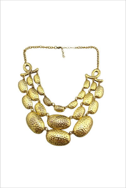 Beaten golden layer necklace - at I Love Tunics @ www.ilovetunics.com = Number One! Tunics Destination