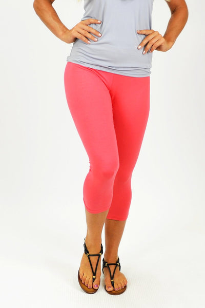 Pink 3/4 leggings