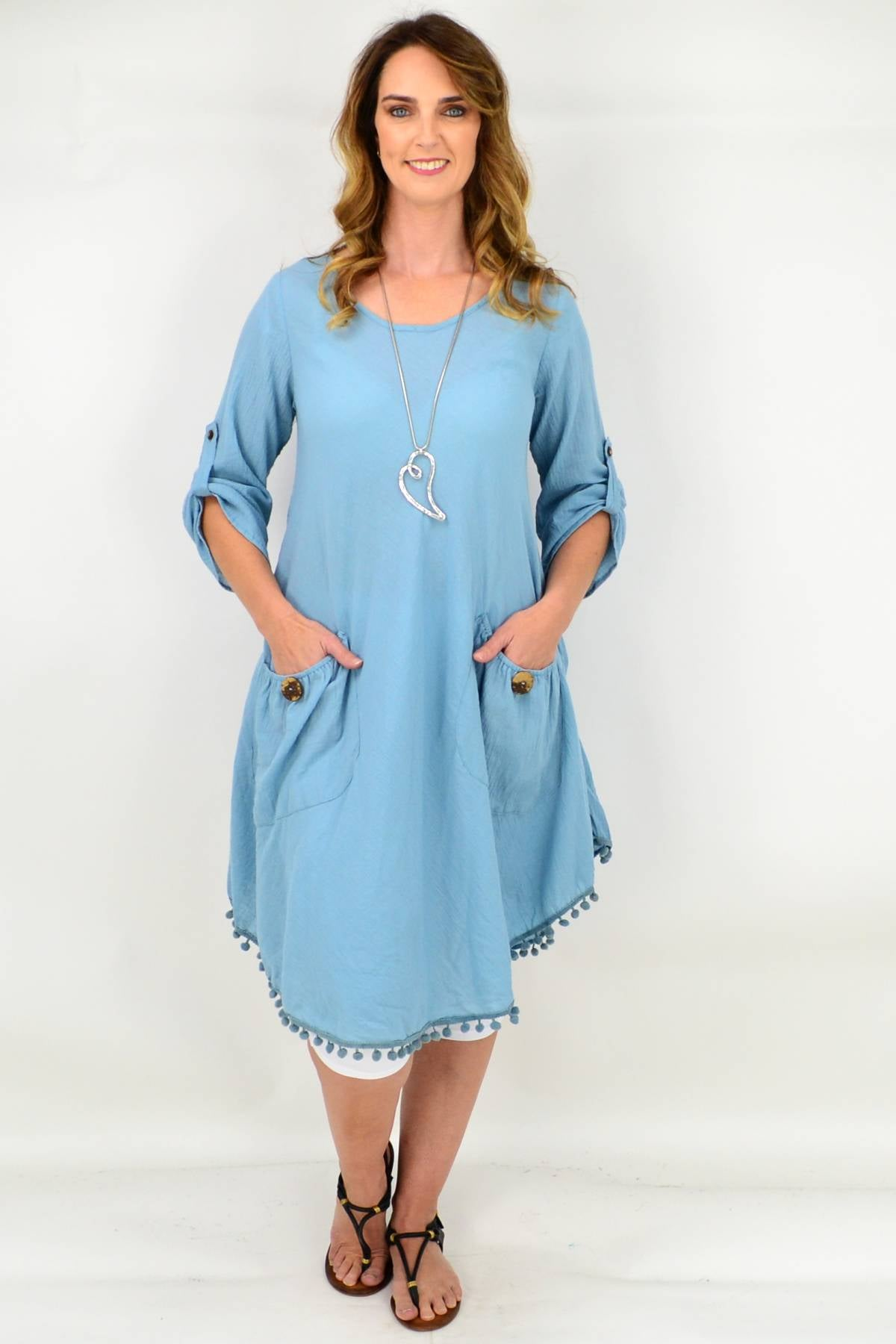 Blue Dress by I Love Tunics