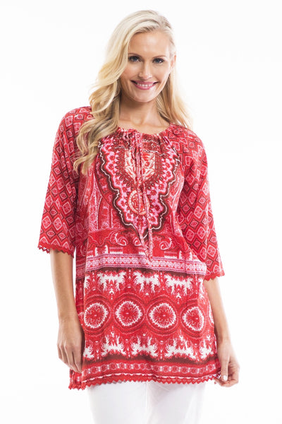 Red White Moroccan Tunic | I Love Tunics | Tunic Tops | Tunic | Tunic Dresses  | womens clothing online