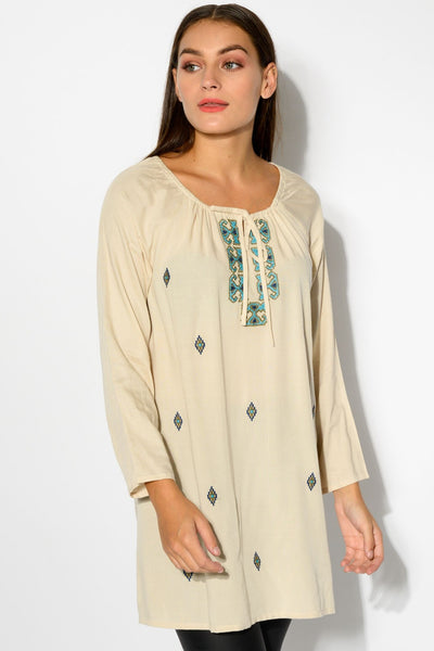 Natural fabric ladies tops online   - available at ilovetunics.com