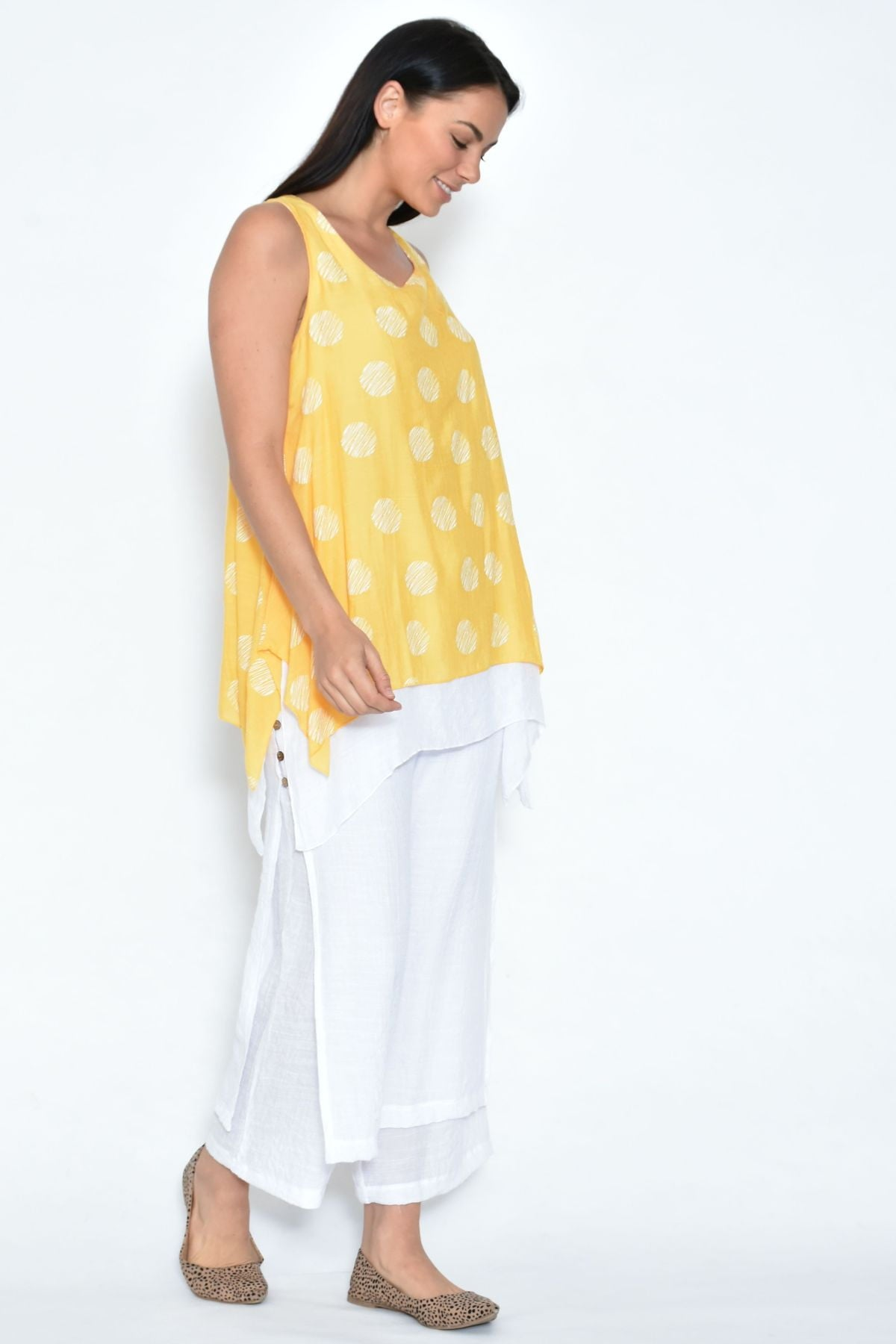 White Double Layer Pants | I Love Tunics | Tunic Tops | Tunic | Tunic Dresses  | womens clothing online