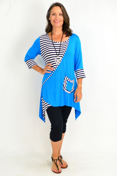 Luna Stripe Long Tunic