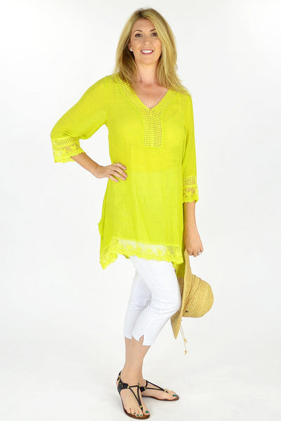 Lime Yellow Yamba Tunic