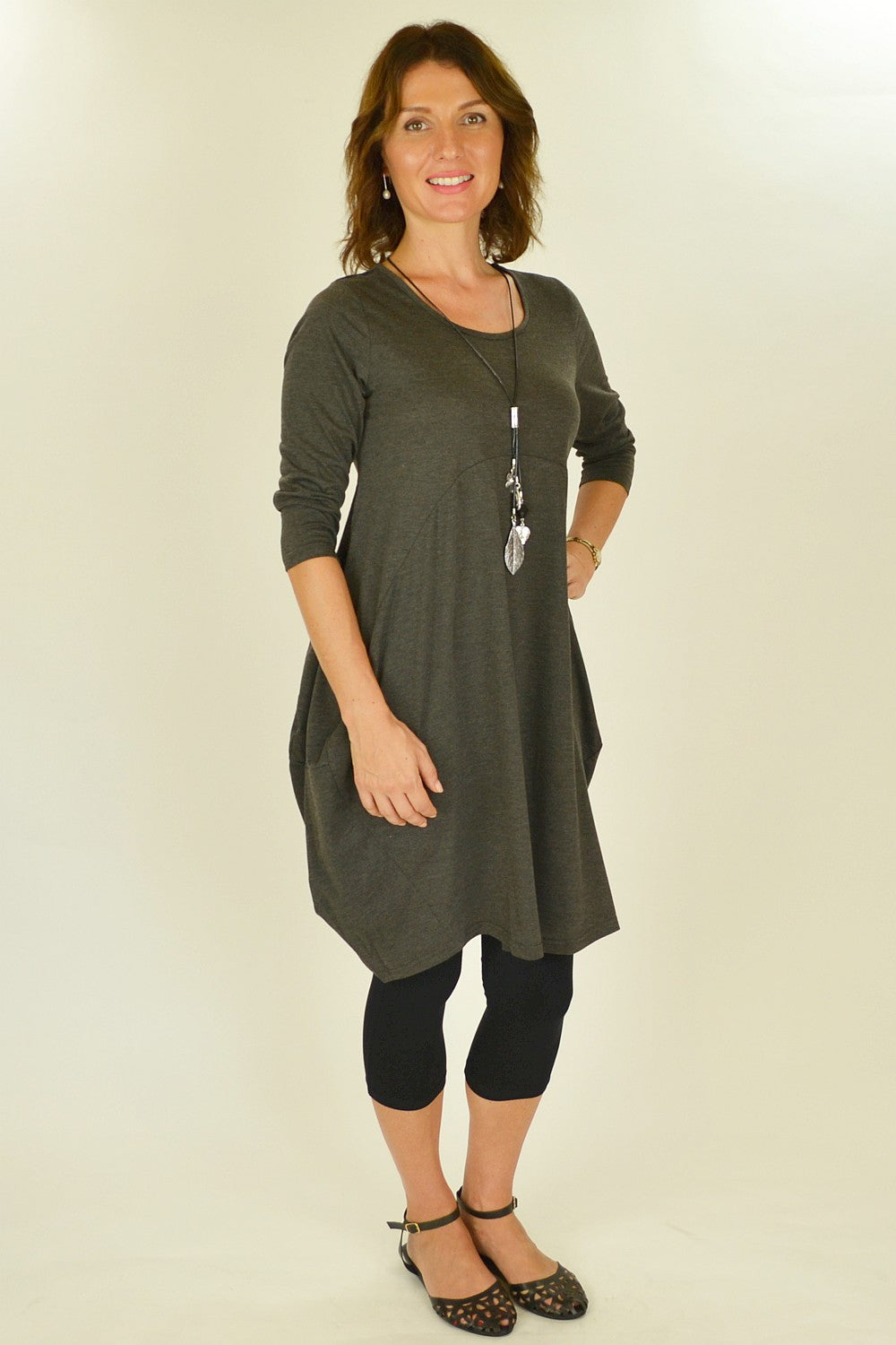 Grey Bobby Tunic - at I Love Tunics @ www.ilovetunics.com = Number One! Tunics Destination